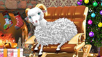 Картинка на тему Новогодние стихи про Овцу