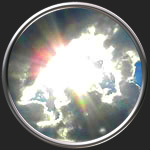 Картинка на тему Солнце и туча